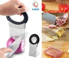 Stainless Steel Tomato Onion Lime Lemon Holder Chopper Slicer with Oder Remover