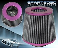 "3"" HIGH FLOW WASHABLE RACING AIR FILTER PURPLE FORD MUSTANG PROBE THUNDER BIRD"