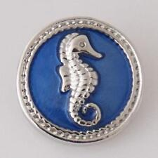 SNAP SEA HORSE  Interchangeable Button Jewelry 18mm Fits Ginger Snaps