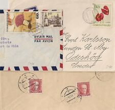 3 COVERS TCHECOSLOVAQUIE CESKOLOVENKO TO SWEDEN. L597