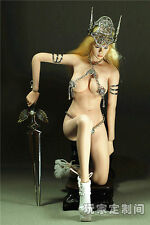 1:6 Scale God of War Female Sexy Metal Clothes Set Fits Big Bust Phicen Figure