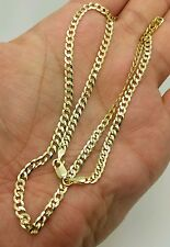 """14k Solid Yellow Gold Cuban Curb Link Necklace Chain 18"""" 3.6mm"""