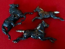 3 Antique Hubley Cast Iron Horses For Toys
