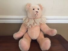 "Owassa Bear Inc. by Jenny Krantz 14"" Jointed Salmon/Pink Mohair"