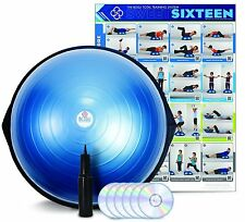 BOSU Ball Home Balance Trainer BLUE 65 cm Workout DVDs Exercise Fitness Home Gym