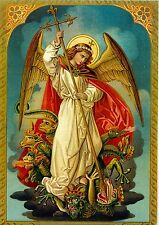 SAINT MICHAEL The Archangel Protector of Evil  A4 Poster Laminated