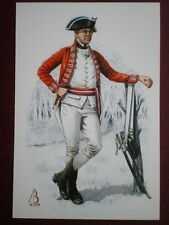 POSTCARD 33RD REGIMENT OF FOOT - SERGEANT 300TH ANNIV OF AMERICAN WAR ON INDEPEN