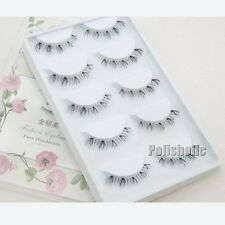 5 Pairs/Set Transparent Edge Lower False Eyelash Soft Handmade Bottom Fake Lash