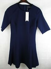 Sugarhill Boutique - Katrina Pleat Detail Dress - Navy - UK Size 12 - (No 6)