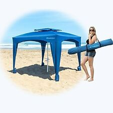 Blue Large Cabana Beach Tent Canopy Umbrella Outdoor Sun UV Shelter Camping NEW