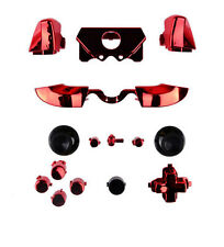 Bumpers Triggers buttons dpad LB RB LT RT Xbox One Elite Controller Chrome Red