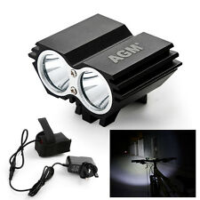 Aluminum Bicycle Bike Cycling Cree LED X2 Headlamp Front Head Light Touch 2000LM