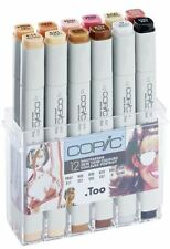 COPIC CLASSIC MARKER PENS - 12 SKIN COLOURS SET - GRAPHIC ART MARKERS