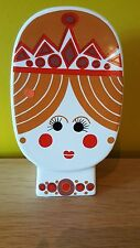 Retro Carlton Ware pottery money box 1920's art deco style female face