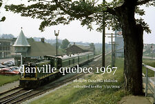 "Canadian National Railway 1905 Danville Quebec July 2 1967 an 8x10 "" photograph"