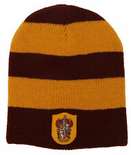HARRY POTTER Licensed GRYFFINDOR House Sigil Slouch BEANIE HAT Winter COSPLAY