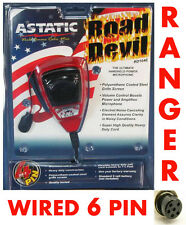 Astatic RD104E Noise Canceling Microphone Wired for 6Pin Ranger / RCI  Radios