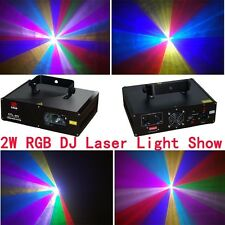 2W RGB Lazer light disco ilda DMX512 Laser Light music projector