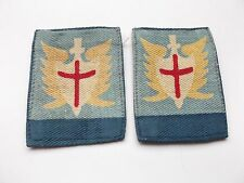GHQ far east land forces  pair of  cloth formation signs  military unit patches