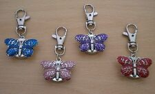 NEW LADIES/GIRLS/NURSES BUTTERFLY KEYRING/KEYCHAIN PENDANT POCKET FOB WATCH