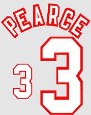 Euro 1996 Pearce 3 England Away Football Name set for National shirt