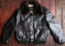 Vtg 70s sears the leather shop doublées en polaire bomber flight jacket coat usa 44R