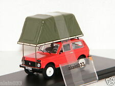 LADA NIVA Whith roof tent 1981 Red ISTMODELS 1/43 - IST295MR