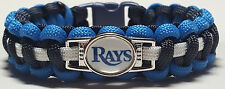 Tampa Bay Rays Navy Blue, Blue & White Paracord Bracelet OR Lanyard OR Key Chain
