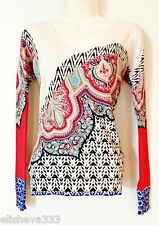 $800 Etro Milano Italy Italy Silk Sweater Size M 4-6 (Italian 42) Red Teal Black