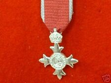 Quality MBE Sterling Silver Miniature Medals