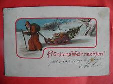 AK 1904 Weihnachtsmann Nikolaus Christbaum