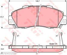 HONDA Accord, CR-V HR-V, Integra, NSX, Preludio pastiglie dei freni (anteriore) TRW-gdb3177