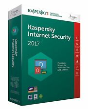 KASPERSKY INTERNET SECURITY 2017 3 PC / Gerät  1 Jahr Vollversion