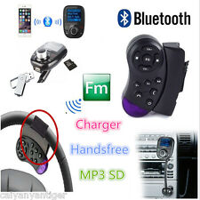 Steering Wheel Bluetooth FM Transmitter Car USB MP3 Player FM Modulator MMC Kit