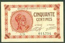 NECESSITE 50 CENTIMES CHAMBRE DE COMMERCE DE PARIS ETAT: NEUF lot 58