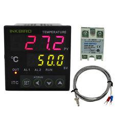 Digital PID Temperature Temp Controller 110V Thermostat + K Sensor + 40DA SSR CE