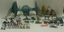 Huge STAR WARS lot-Tie Fighter 1995 -pod racer 1998-over 65 figures-Horses-Guns