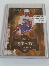 2011-12 Artifacts #140 P.K. Subban STAR 166/999 : Montreal Canadiens