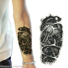 Temporary 3D Large Waterproof Tattoos Stickers Mechanical Arm Fake Transport