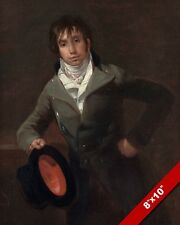 YOUNG SPANISH GENTLEMAN OF 1800'S PORTRAIT PAINTING ART REAL CANVAS PRINT