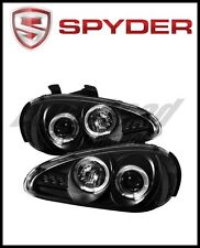 Spyder Mazda MX3 92-96 Projector Headlights LED Halo LED Black High H1 Low H1