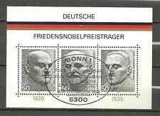 Bloc Allemagne prix nobels de la paix 1975 oblitération premier jour