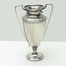 Antique Sterling Silver Cement Loaded Trophy Cup Goblet with Handles