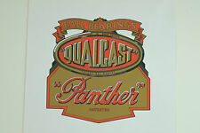 Qualcast Panther Vintage Mower Repro Catcher Decal