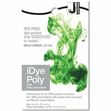 iDye POLY Kelly Green - For Polyester & Nylon Fabrics-  No Mess Packets 14g NEW
