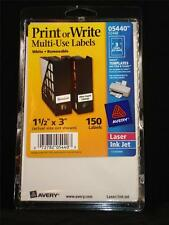 NEW Avery 05440 5440 S2448 150 White Removable Print or Write Multi Use Labels