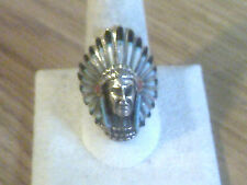 Zuni Indian Headdress Ring w/Multi-Color Stones Available sizes 9 thru 13