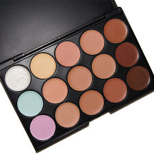 15 Color Cosmetic Concealer Corrector Foundation Palette Primer Makeup Plate