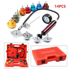 14 PC Radiator Pressure Tester Pump Leak COOLING SYSTEM Checker Aluminum Adapter
