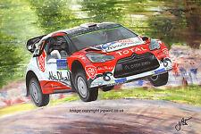 ORIGINAL PAINTING - KRIS MEEKE - CTROEN DS3 WRC - RALLY FINLAND 2016